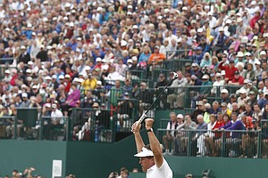 Phil Mickelson during Sunday's final round at the 2013 British Open at Muirfield.