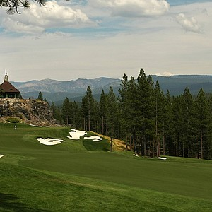 A view of No. 18 with clubhouse in background during the 66th U. S. Junior Amateur Championship at Martis Camp Club.