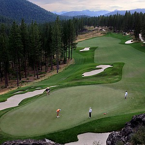A view of hole No. 18 during the 66th U. S. Junior Amateur Championship at Martis Camp Club.