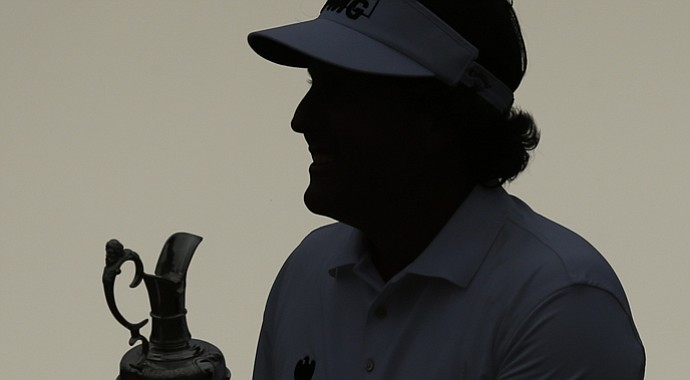 Phil Mickelson's 2013 British Open win lifted him to No. 2 in the Official World Golf Ranking.