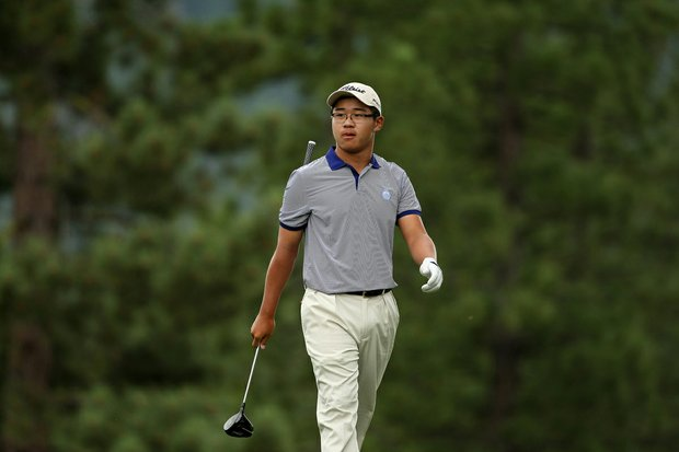 Jim Liu during the final day of stroke play at the 66th U. S. Junior Amateur Championship at Martis Camp Club.