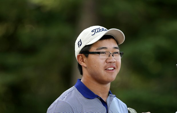 Jim Liu is all smiles after posting his second consecutive round in the 60s to become medalist during the final day of stroke play at the 66th U. S. Junior Amateur Championship.