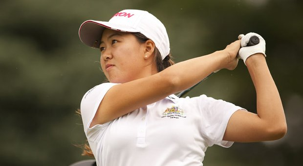 Defending champion Minjee Lee finished in third stroke play at Sycamore Hills Golf Club.