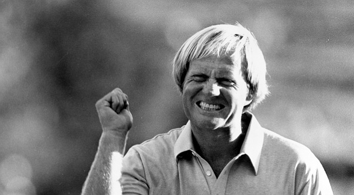 Jack Nicklaus during his win in the 1980 PGA Championship at Oak Hill.