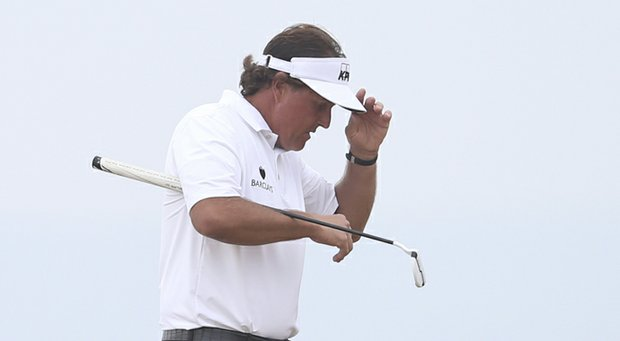 Phil Mickelson during the final round of his 2013 British Open win at Muirfield.