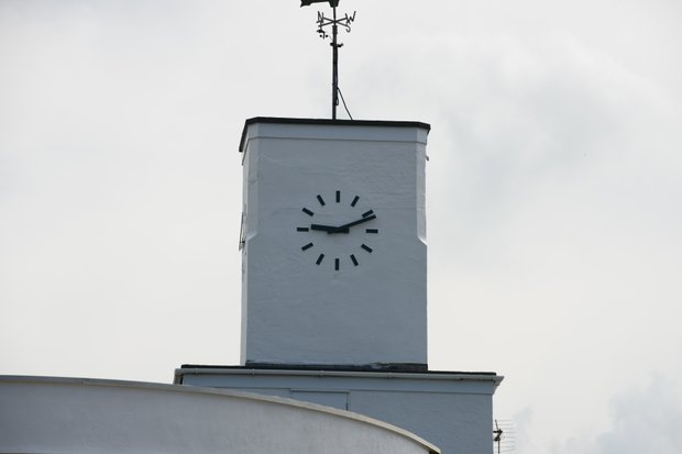 The clock at Royal Birkdale, stuck during a power outage in July 2013.