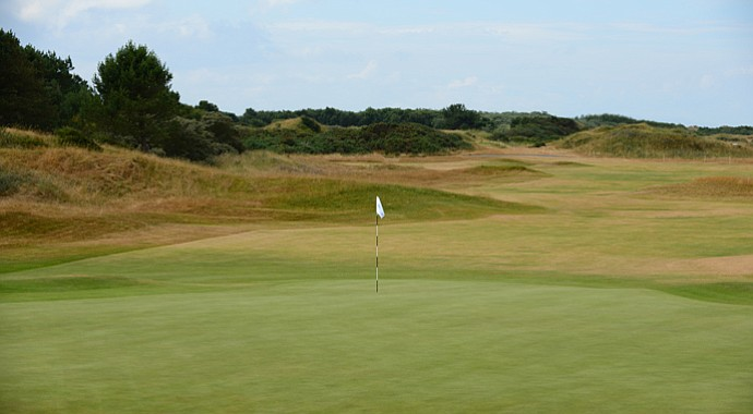 The 18th hole at Royal Birkdale.