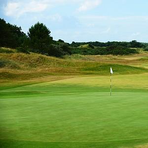 The 18th hole at Royal Birkdale.
