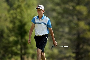Brian Carlson defeated Brad Dalke 1 up during the Round of 32 at the 66th U. S. Junior Amateur Championship.