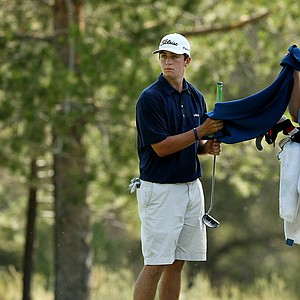 Davis Riley at No. 12 during the quarterfinals at the 66th U. S. Junior Amateur Championship. Riley defeated Zecheng Dou.