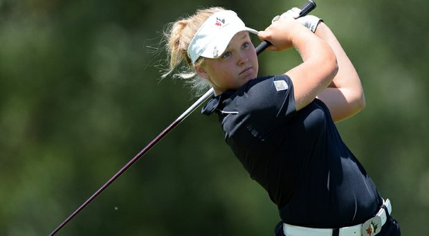 Brooke Henderson, the top-ranked Canadian women's golfer, captured her first Canadian Women's Amateur Championship Friday.
