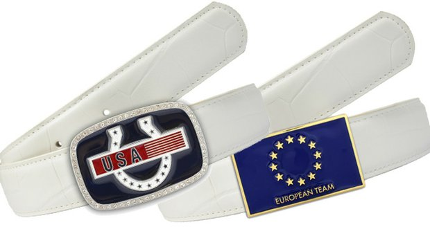 Druh belts and buckles will be worn by the European and U.S. teams in the 2013 Solheim Cup at Colorado Golf Club in Parker, Colo., Aug. 13-18.