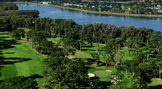 The third hole of The Olympic Club's Lake Course in San Francisco.