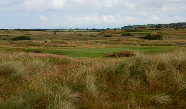 The second hole is a short par 3 that is also bunkered well in the front.