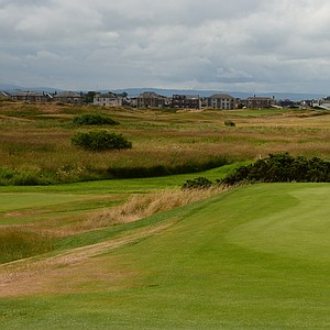 The sixth hole at Prestwick is a short par 4 that goes back towards town and is called Elysian Fields.