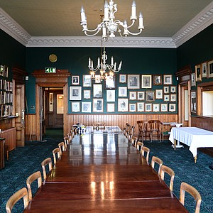In Prestwick's dining room, pictures of former captains adorn the walls.