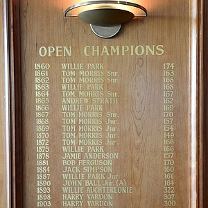 Open Champions at Prestwick.