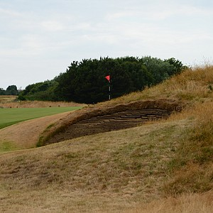 A look at Royal Lytham's 10th hole and what you face if you miss right.