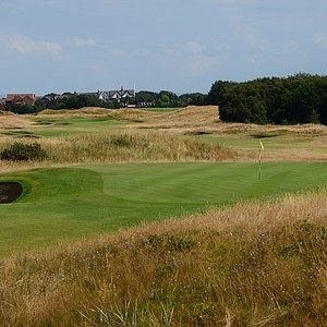 A look backwards at Royal Lytham's sixth hole.