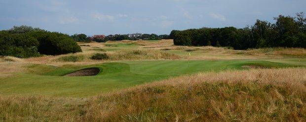A look backwards at Royal Lytham's sixth hole.