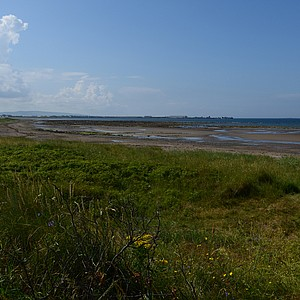 A view from Western Gailes' 13th hole, toward Troon Harbour.