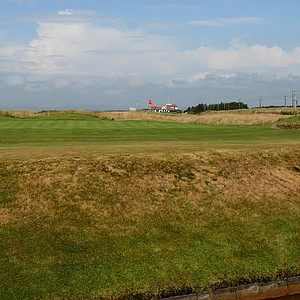 And then of course the burn that fronts the green as well on the 16th at Western Gailes.