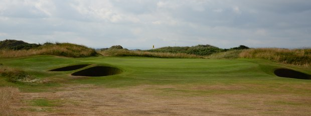 The fifth at Western Gailes is called Bunker Hill.  You can see all the bunkers in play.