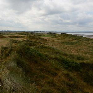 A look at Western Gailes' par 5, sixth hole looks daunting.  But Lappock is only 498 yards and very scenic.