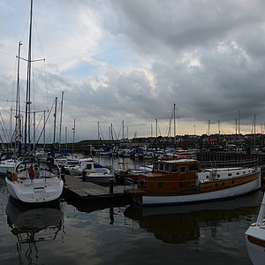 The harbor at Anstruther, Scotland.