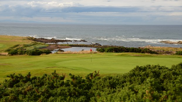 The 14th green at Crail.