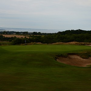 The 13th green at Dukes.