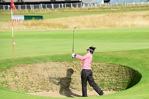 Ai Miyazato during practice for the 2013 Women's British Open.