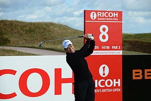 Catriona Matthew during practice for the 2013 Women's British Open at St. Andrews.
