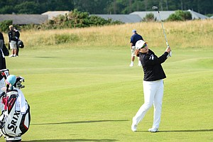 Inbee Park during practice for the 2013 Women's British Open.