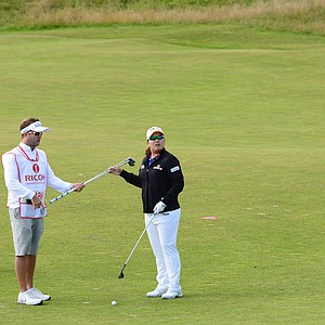Inbee Park during practice for the 2013 Women's British Open at St. Andrews.
