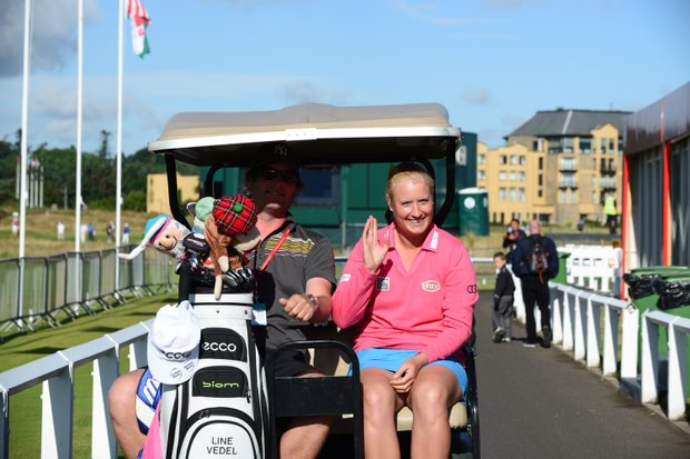 Line Vedel during practice for the 2013 Women's British Open at St. Andrews.