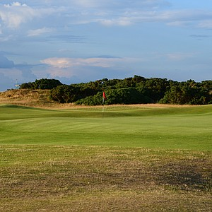 The 13th hole at the Old Course at St. Andrews.