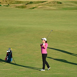 Fifteen-year-old amateur Lydia Ko during practice for the 2013 Women's British Open at St. Andrews.