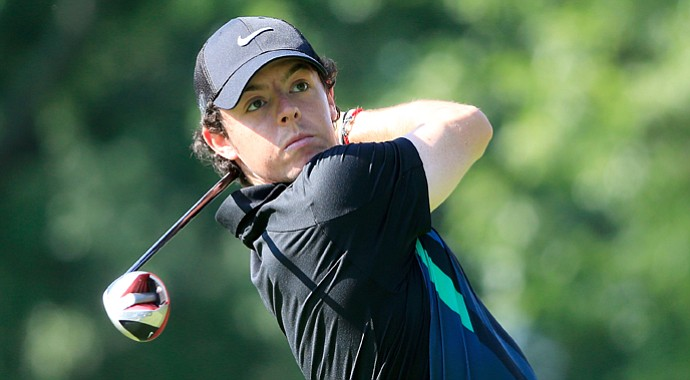 Rory McIlroy during a practice round at the WGC-Bridgestone Invitational.