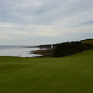 Braes. A look back up the coast from the 17th hole.