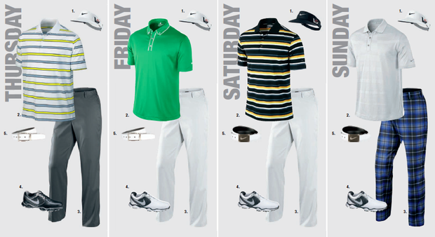 Carl Pettersson's scripted apparel for the 2013 PGA Championship.