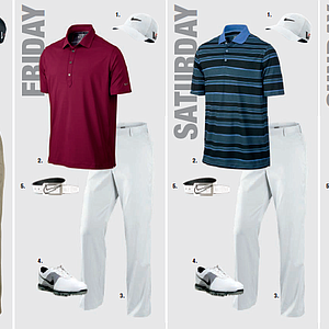Charl Schwartzel's scripted apparel for the 2013 PGA Championship.