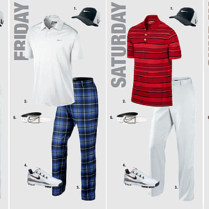 Francesco Molinari's scripted apparel for the 2013 PGA Championship.