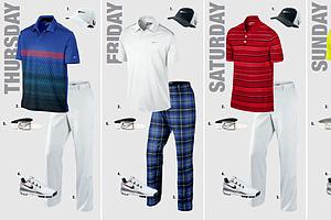 Francesco Molinari's scripted apparel for the 2013 PGA Championship.