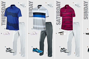 Kevin Chappell's scripted apparel for the 2013 PGA Championship.