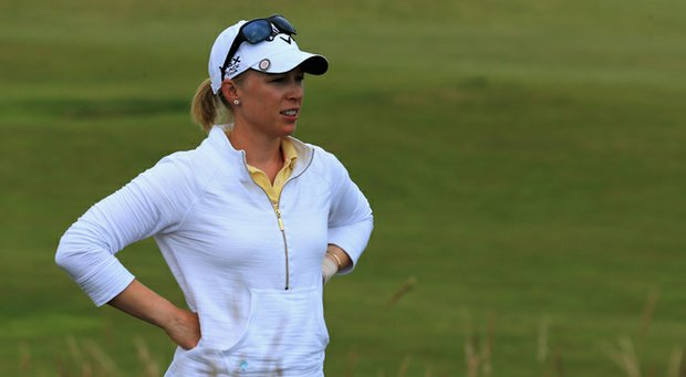 Morgan Pressel during the first round of the Ricoh Women's British Open.