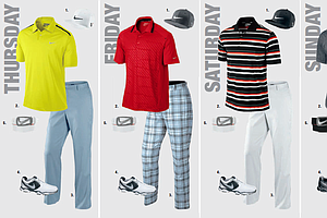 Nick Watney's scripted apparel for the 2013 PGA Championship.