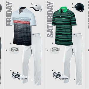 Paul Casey's scripted apparel for the 2013 PGA Championship.