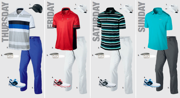 Rory McIlroy's scripted apparel for the 2013 PGA Championship.