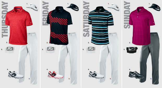 Russell Henley's scripted apparel for the 2013 PGA Championship.